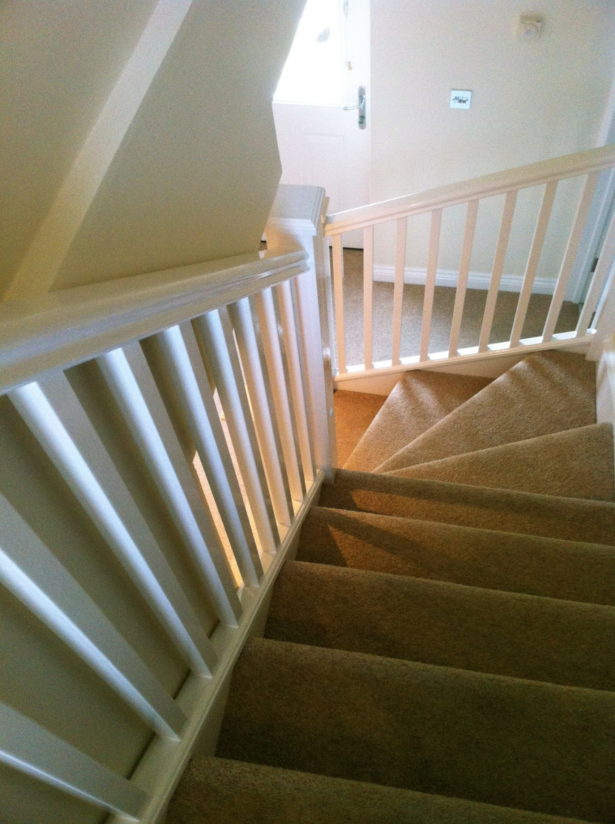 Quality finish hall and stairwell truro justpainting for Interior finishing company